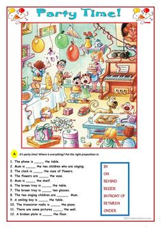 Party Time! worksheet - Free ESL printable worksheets made by teachers
