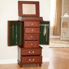 Modern Jewelry Armoire Vintage Mobile Home Tiny House Pinterest
