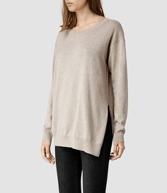 Womens Kimba Sweater (Oat marl) - product_image_alt_text_2