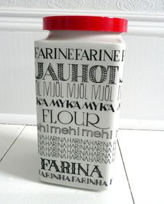 RESERVED Rare Arabia of Finland Graphic Flour Canister