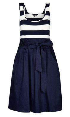 Plus Size Cute Sailor Dress