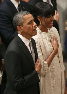 Potus and Flotus, the day after the 2013 Inauguration.