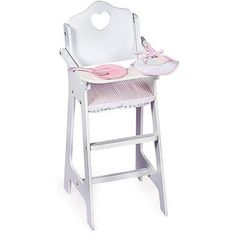 "Fits Most 18"" Dolls Badger Basket Doll High Chair With Feeding Accessories -- Awesome products selected by Anna Churchill"