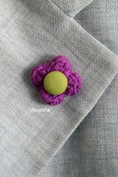 Flower lapel pin. Build your own flower. Men's boutonniere. Buttonhole. Pink and…
