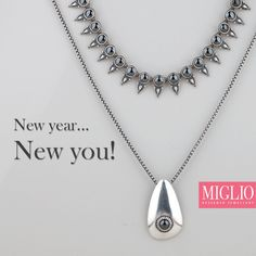 Create your own fashion rules - be fun, be daring and dramatically different with our bold hematite spear necklace. Get the look with Miglio Designer Jewellery's (necklace) (necklace) and (pendant). Jewelry Design, Designer Jewellery, Jewelry Collection, Swarovski Crystals, Pendant Necklace, Sterling Silver, Collections, Create, Fun