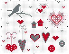 Сердечки: простые схемы для вышивания крестиком. Обсуждение на LiveInternet - Российский Сервис Онлайн-Дневников