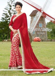 Outstanding Georgette Multi Colour Print Work Printed Saree Model: YOSAR9276
