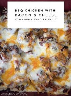 Super easy BBQ Chicken with Bacon & Cheese keto / ketogenic / ketogenic recipe / low carb /slow cooker / crock pot / #ketodinner #lowcarbdinner #chickenbacon #bbqchicken #crockpotdinner #slowcookerdinner