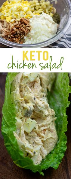 Keto chicken salad loaded up with lots of goodies for maximum flavor! Keto chicken salad loaded up with lots of goodies for maximum flavor! Low Carb Chicken Salad, Chicken Salad Recipes, Healthy Salad Recipes, Lunch Recipes, Diet Recipes, Breakfast Recipes, Healthy Chicken, Recipes Dinner, Shrimp Recipes