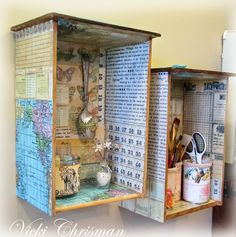 Decoupage Projects On Canvas | Old drawers can be made into wall shadowboxes or end tables to display ...