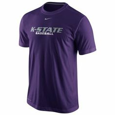 Nike Kansas State Wildcats Baseball Practice Performance T-Shirt - Purple