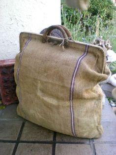 Carrying case made from vintage grain sack. OMG. OMG. OMG.: