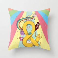 Adventuresands | Adventure Time Throw Pillow by Daniel Mackey