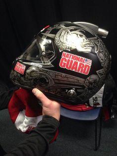 Dale Earnhardt Jr NASCAR 2014 Sprint Cup helmet. National Guard #88