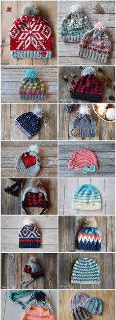 16 super cute and trendy Free Crochet Hat Patterns to keep you warm and cozy all. - - 16 super cute and trendy Free Crochet Hat Patterns to keep you warm and cozy all season long. Crocheting hats is a great way to practice your stitches. Bonnet Crochet, Crochet Beanie Pattern, Headband Pattern, Baby Hat Crochet, Crochet Winter Hats, Mittens Pattern, Beginner Crochet Projects, Crochet For Beginners, Sewing Projects