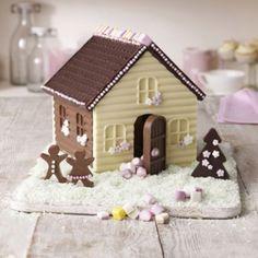 Christmas chocolate house
