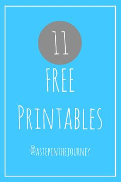 11 free printables