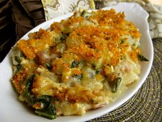 bok choy gratin.  Never would have thought of this, definitely want to make!
