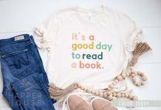 Read Shirt Librarian Shirt Book Lovers Shirt Teacher | Etsy #reading #booklovers #bookish #bookishgifts #bookworms