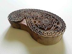 Paisley Indio sello madera impresión de bloque de por GilbertsTree