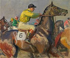 View The yellow jockey by Sir Alfred Munnings on artnet. Browse upcoming and past auction lots by Sir Alfred Munnings. Canvas Art Prints, Fine Art Prints, Alfred Munnings, Show Horses, Race Horses, Irish Art, Horse Drawings, Oil Painting Reproductions, Equine Art
