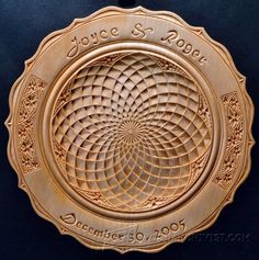 Chip Carved Wedding Plate - Wood Carving Patterns and Techniques | WoodArchivist.com