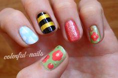 Some nail art to celebrate spring :-)