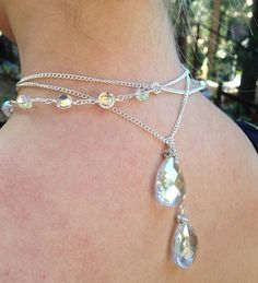 Faceted Crystal Lariat by GeorgiJules on Etsy