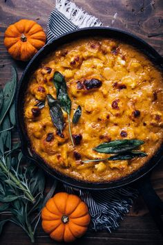 fall recipes dinner This Pumpkin Cauliflower Gratin is the perfect cozy meal for fall! This recipe would also be ideal for any holiday table! Savory Pumpkin Recipes, Vegan Pumpkin, Pumpkin Bread, Pumpkin Pumpkin, Pumpkin Pasta, Pumpkin Dessert, Canned Pumpkin, Pumpkin Puree, Cauliflower Gratin