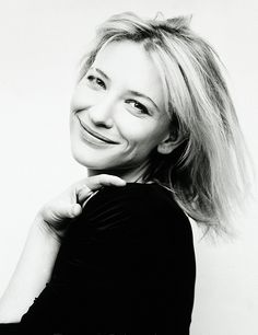 Cate Blanchett is such a natural beauty! Cate Blanchett, Black And White Portraits, Black And White Photography, Beautiful People, Beautiful Women, Beautiful Smile, Famous Women, Girl Crushes, Amazing Women