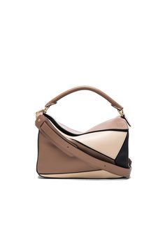 Loewe Puzzle Bag in Black & Hazelnut | FWRD