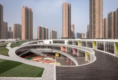 Image 16 of 34 from gallery of Kindergarten in Xieli Garden / UDG + SEU. Photograph by Yao Li, Qian Qiang Contemporary Architecture, Landscape Architecture, Landscape Design, Architecture Design, Futuristic Architecture, Wuxi, Education Architecture, School Architecture, Kindergarten Design