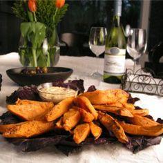 sweet potato wedges with aioli