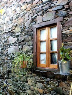 Schist Village   Aldeia do Xisto Talasnal Wooden Architecture, Portuguese Culture, Global Village, Wooden Shutters, Old Stone, Window Art, Barn Homes, Travel List, Balconies