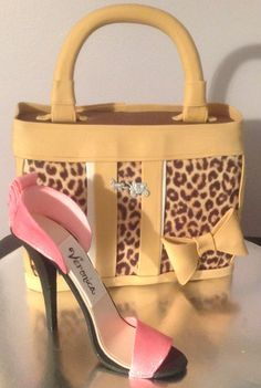 - Leopard purse and gumpaste shoe