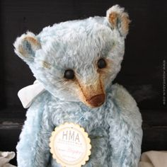 Hugster, larger HMA Mohair bear in a traditional, vintage style.