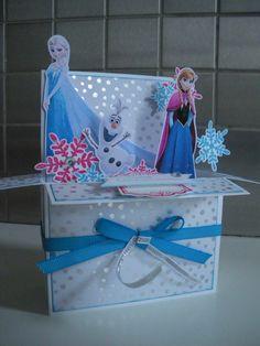 Carte Pop Up Reine des Neiges, Pop Up Card Frozen