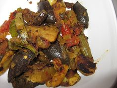 Vegetarian Recipes: Roasted vegetable curry/kathrika murungakai varuval/porial