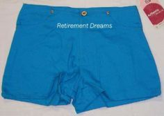 Faded Glory Girls 14 Bermuda Blue Carpenter Shorts New | eBay