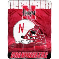 Ncaa Overtime 60 inch x 80 inch Blanket, Nebraska, Multicolor