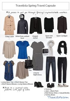 Travelista Spring Capsule Wardrobe - Travel Tips - Packing