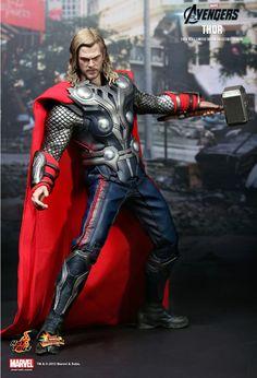 "Hot Toys 12"" Marvel Avengers MMS175 Thor 1 6 Action Figure Send EMS US | eBay"