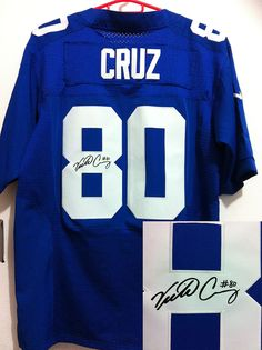Nike Giants 80 Victor Cruz Royal Blue Team Color Men s Embroidered NFL  Elite Autographed Jersey 7fa1e752a