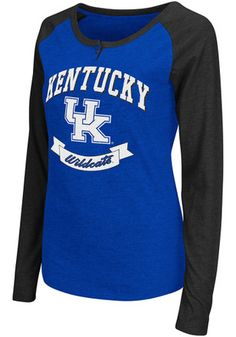 KENTUCKY WILDCATS GIRLS GREY JUNIOR CUT SCREEN PRINTED LONG SLEEVE T-SHIRT NWT Fan Apparel & Souvenirs Sports Mem, Cards & Fan Shop