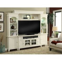 Modern Country Entertainment Wall with 62 Inch TV Stand - Tidewater #tvstand