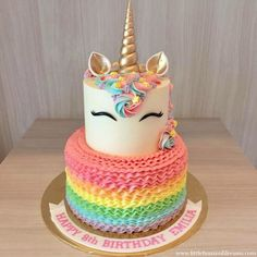 A unicorn cake is always a good idea! * * For customised cake orde… A unicorn cake is always a good idea! * * For customised cake orders, email us at hello * *… Unicorn Themed Birthday Party, Rainbow Birthday, Cake Birthday, Unicorn Birthday Cakes, Birthday Ideas, Birthday Cakes For Kids, Unicorn Themed Cake, Special Birthday, Birthday Fun
