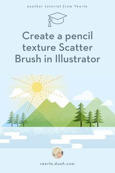 // tutorial, trees, illustrator, textures, clouds, mountains // I'll explain how to create a pencil scatter brush in Adobe Illustrator.