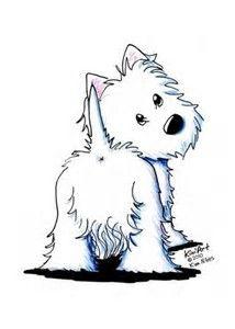 Bilderesultat for west highland white terrier dibujo Cartoon Drawings, Animal Drawings, Cartoon Art, Cute Drawings, Dog Drawings, Arte Tribal, White Terrier, Westies, Westie Dog