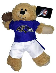 NFL Football Baltimore Ravens 14 Inch Plush Team Teddy Bear Wearing Logo Shirt and Pants NFL http://www.amazon.com/dp/B00S49NWJU/ref=cm_sw_r_pi_dp_-wAdvb0XTVVS4