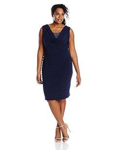 London Times Women s Shutter Dress with Drop Skirt Blue 8